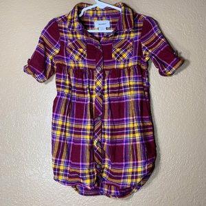 Old Navy toddler plaid button down shirt dress